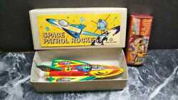 With More Good Addition Showa Retro Space Rocket Collection Tin Toys Antique