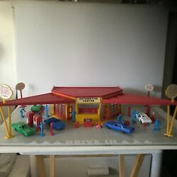1993 Marx Play Set Vintage Sears Service Center -tin Lithograph Gas Station Toy