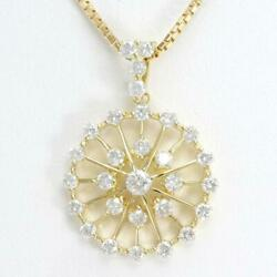 Jewelry 18k Yellow Gold Necklace Diamond About7.1g About45cm Free Shipping Used