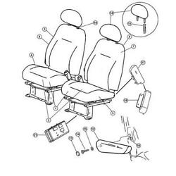 Chrysler 1al323flaa - Cover. Right. Front Seat Back. Diagram 7
