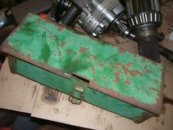 Vintage Oliver 1650 Gas Tractor - Tool Box And Cover - As - Is