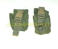 Lot Of 2 Military Eagle Ind Dflcs Grenade Pouch Od Green Fgc-1-ms-df-od Exc