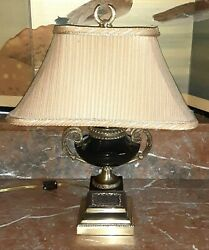 Frederick Cooper Neo Classical Table Lamp. Black Marble Brass.