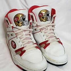 49ers Eastport By Starter Mens 10.5 High Top Lace Up Shoes Vintage 90s