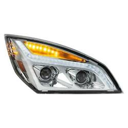 United Pacific 35820 Chrome Led Projection Headlight Rh With Led Position Light