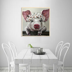 Painting Art Poster Decor Canvas Pig Big Ears Picture for Wall Office Room US