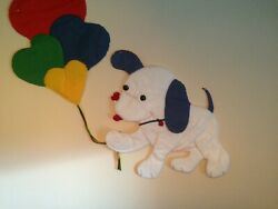 RARE Large Nursery Wall Hanging Snoopy Holding 4 Balloons