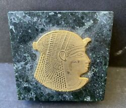 """Egyptian Marble And Metal Paper Weight 2"""""""