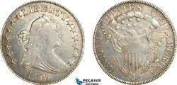 Ag685, United States, Draped Bust Half Dollar 50c 1807, Silver, Cleaned Xf
