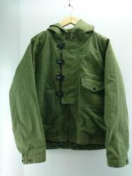 Nigel Cabourn Deck Parka Jacket Green Cotton Size 48 Used From Japan