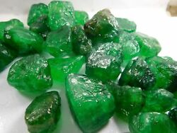 2000.00cts Translucent Natural Colombian Emerald Green Loose Uncut Raw Rough Lot