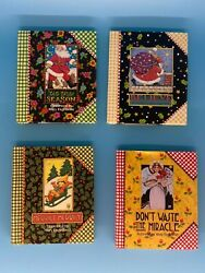 Mary Engelbreit Miniature Books, Christmas, Bright Cheery Pictures, New Other