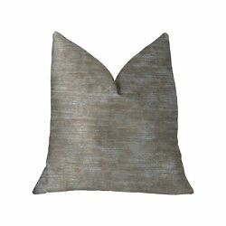 Plutus Bella Isabella Brown And Beige Luxury Throw Pillow