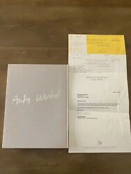 Andy Warhol Kiku Art Book With Collectors Print Inside And Gallery Paperwork