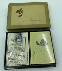 Chesapeake And Ohio Railway Playing Card Deck And Case 1943 Cando Chessie