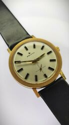 Zenith 18k Gold Vintage Watch From And03950s