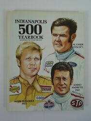 1969 1970 1971 1972 Indianapolis 500 Yearbook Hungness Andretti Unser Donohue