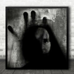 Shadows Eerie Gothic Finger Tips Face Wall Art Print