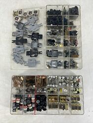Huge Lot Vintage Tyco Assorted Ho Slot Car Parts Chassis Motor Axel Tires Body