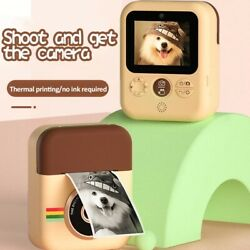Best Children Instant Print Camera For Kids 1080p Hd With 3 Paper Rolls Aaa