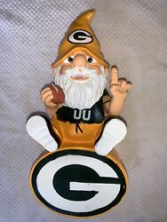 Nfl Licensed Forever Collectibles Green Bay Packers Team Gnome Holding Football