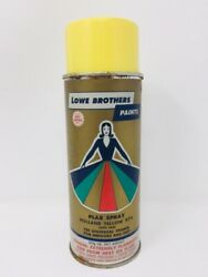 Vintage Spray Paint Lowe Brothers Paper Label Advertising Metal Can Full Decor