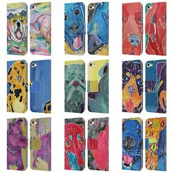 Official Lauren Moss Dogs Leather Book Wallet Case For Apple Ipod Touch Mp3