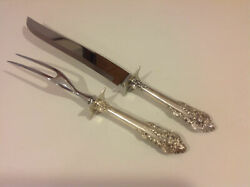 New Grande Baroque Wallace Sterling Silver Roast Carving Set