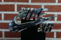 Rare Retail Store Display Nike Sb Shoes Skateboard Wooden Not Sold To Public Vtg