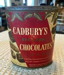Vintage 1900-1955 Cadbury's Red Label Chocolate Tin Container Advertising Paper