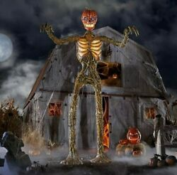 New 12 Foot Giant Inferno Pumpkin Skeleton W/lcd Eyes Sold Out Columbus Ohio