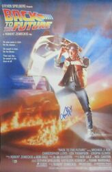 Michael J Fox Back To The Future Signed/auto 24x36 Full Poster Beckett 162835