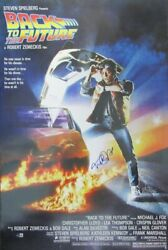 Michael J Fox Back To The Future Signed/auto 24x36 Full Poster Beckett 162837