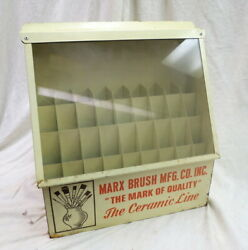 Steel And Glass Counter Display Marx Paint Brushes / Ceramic Art Line Oil Painting