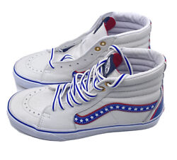 Sk8 Hi Leather Skate Shoes Evil Knievel Americana True White Racing Red S 8