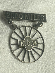 Vtg Extremely Rare Kings Country Wheelman Bicycle Club 2000 Miles Sterling Pin
