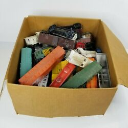 Large Lot Of Model Scale Trains, Box Cars, Parts, Pieces