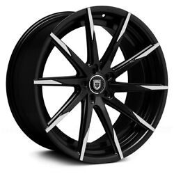 Lexani Css-15 With Covered Lugs Wheels 22x9 25, 5x130 Black Rims Set Of 4