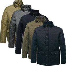 Regatta Mens Tyler Diamond Quilted Water Repellent Warm Thermo Insulated Jacket