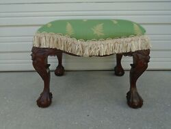 Vanity Stool French Country Lion Dragon Feet Hollywood Regency Ball Claw Foot