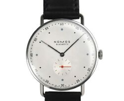 Nomos Metro 38 Mt1a4w1 Manual Winding Silver Dial Menand039s Watch Brand New