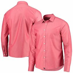 Boston Red Sox Untuckit Button-up Long Sleeve Shirt - Red