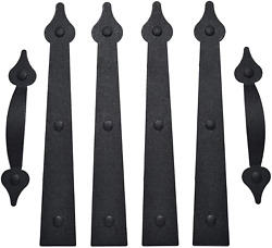 Garage Door Magnetic Decorative Hardware Carriage Accents Faux Hinges Handle Kit