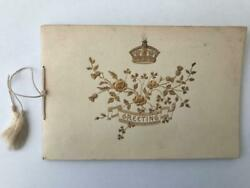Rare 1800s Royal Christmas Card With Signatures Children Of Queen Victoria