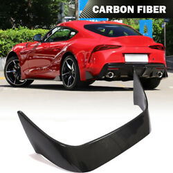 Dry Carbon Fiber Rear Trunk Spoiler Wing Lip For Toyota Supra A90 Coupe 2019-211