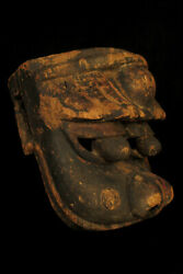 Antique Large Mask Chinese Or Japanese Of Shishi/carved Wood Dance Ritual