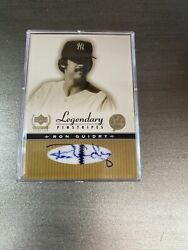 2000 Ud Legendary Pinstripes Autographed - Ron Guidry