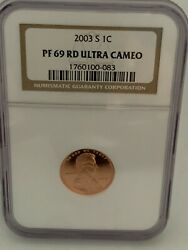 2003 S 1c San Francisco Mint Lincoln Proof Penny Graded Ngc Pf69 Ultra Cam 083