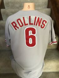 Jimmy Rollins 1999 Game Used Signed Minor League Reading Phillies Jersey Loa