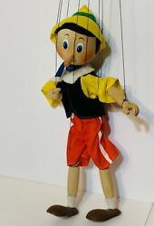 Vintage Hand Carved Wooden Marionette Puppet Pinocchio 14